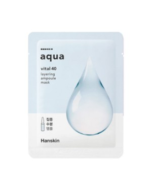 Hanskin - Vital 40 Masque Ampoule à Couches - Aqua - 1pc