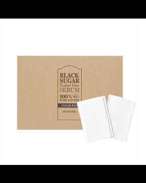 SKINFOOD - Black Sugar Perfect First Serum Tampon transparent 100% pur coton - 60pcs