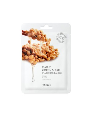 YADAH - Daily Green Mask - Natto Collagen - 25ml X 1pc