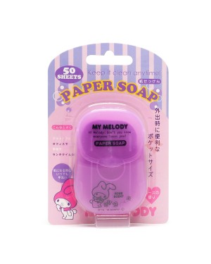 Other Sanitizers - My Melody Portable Box Soap Paper - Rose Flavor - 50pcs