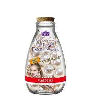 PUREDERM - Masque de perles naturelles éclaircissantes pour la peau - 15g - Vitamine E - 10 pièces - 10pcs
