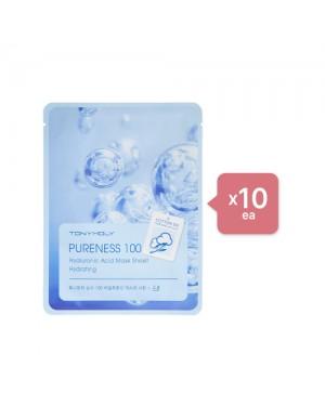 Tonymoly - Pureness 100 Mask Sheet - Hyaluronic Acid (10ea) Set - Light sea green