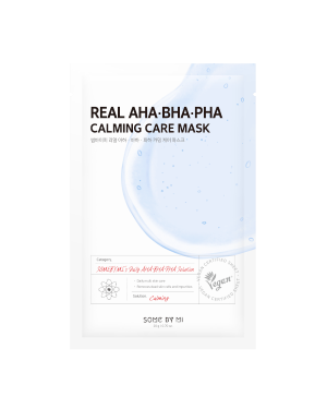SOME BY MI - Real AHA-BHA-PHA Calming Care Mask - 1pc