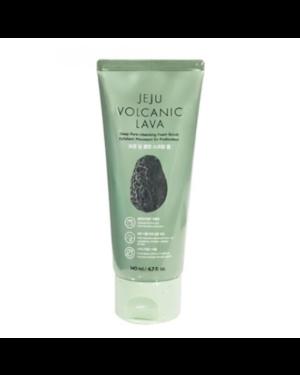 The Face Shop - Jeju Volcanic Lava Deep Pore Cleansing Foam Scrub - 140ml