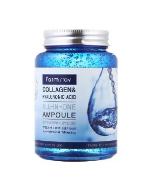 Farm Stay - Ampoule tout-en-un au collagène et à l'acide hyaluronique - 250 ml