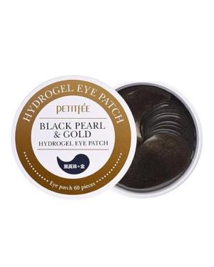 PETITFEE - Cache-oeil Hydrogel perle noire et or - 60pcs