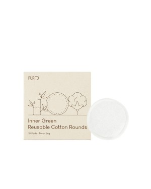 PURITO - Inner Green Reusable Cotton Rounds - 10 Pads