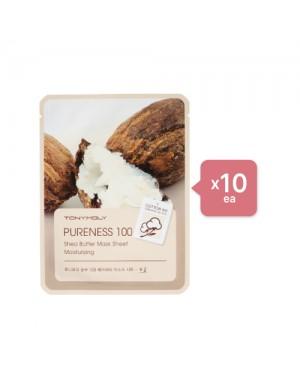 Tonymoly - Pureness 100 Mask Sheet - Shea Butter (10ea) Set - Chartreuse
