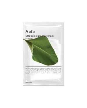 Abib - Masque en feuille de pH acide doux - Heartleaf Fit - 1pc