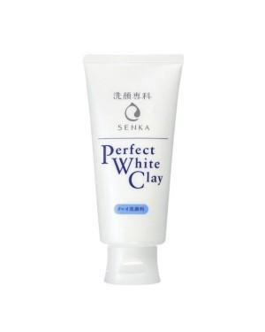 Shiseido - Senka Perfect Mousse faciale à l'argile blanche - 120g