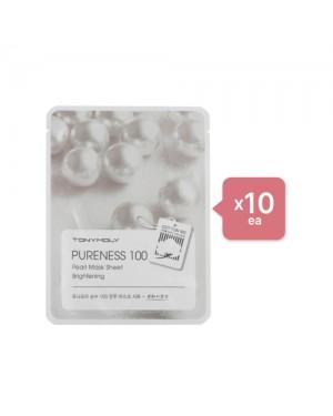 Tonymoly - Pureness 100 Mask Sheet - Pearl (10ea) Set - Apple green